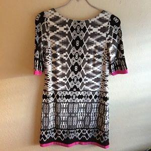 Eliza J geometric print dress size 4
